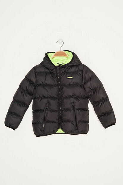 Black Unisex Kids Coats