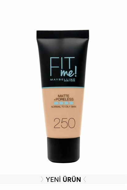 Matte Foundation - Fit Me Matte + Poreless Foundation 250 Sun Beige 3600531324896