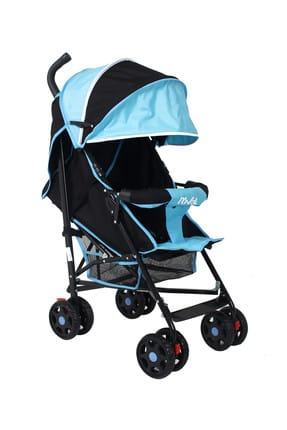 Junıor Baston Baby Stroller Blue Black RV101