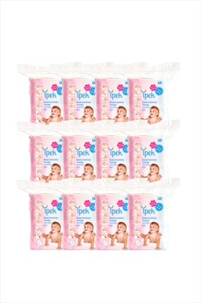 Silk Maxi Baby Cleaning Silk Cotton 60s 12Pack IPK01412