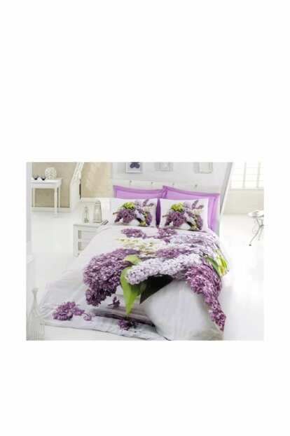 Cotton Box 3D Double Duvet Cover Set - Vilma Lila C0038