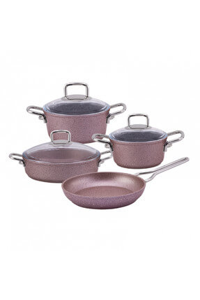 Premium Granite 7 Piece Cookware Golden Pink 600.15.01.0095