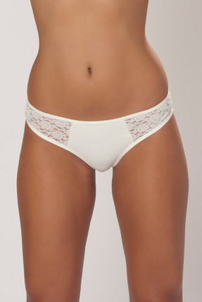 Women's Ecru Lace Detailed Slip Panties 0360JILL06B_052