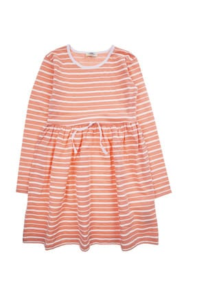 Young Girl Dress Coral Neon SBGKGELBS21814_00-0030