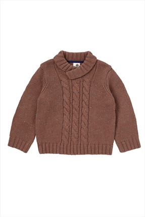 Brown Boys' Sweater Z1420
