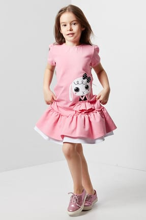 Girls' Frilly Rabbit Dress CFF-19Y2-037