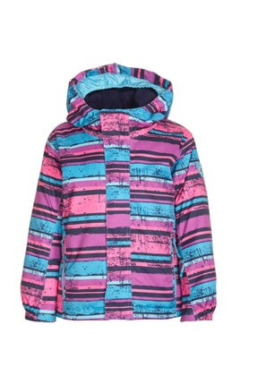 Stripy Mini Functional Kids Skiing Coat 31104