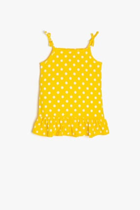 Yellow Baby Girls Polka Dot Dress 9YMG89920OK