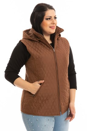 Women's Taba Hooded Quilted Waistcoat P5264