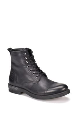 Genuine Leather Black Men Boots & Bootie 000000000100328619